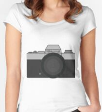 Nikkormat Film camera  Women's Fitted Scoop T-Shirt