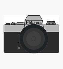 Nikkormat Film camera  Photographic Print