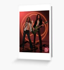 Self Portrait as Robert Plant and Jimmy Page Greeting Card