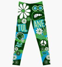 Tulane Flower Collage Leggings