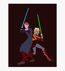 Star Wars: Anakin and Ahsoka - Master and Padawan Photographic Print
