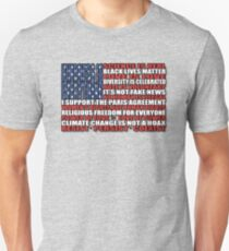Political Protest American Flag Unisex T-Shirt