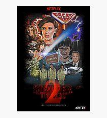 Stranger Things Season Two Fan Poster Photographic Print