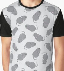 Funny mouse pattern Graphic T-Shirt