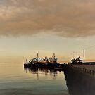 Fishing Boats At Dusk..........................Ireland by Fara
