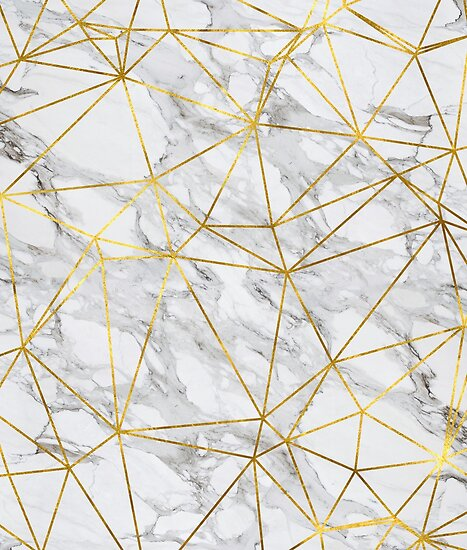 Quot Marble Geometric Gold Lines Design Quot Poster By