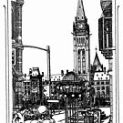 Parliament Peace Tower,Ottawa 1995 by John W. Cullen