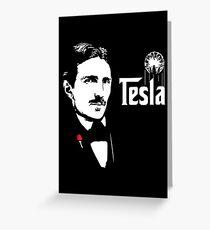 Nikola Tesla Godfather Theme Greeting Card