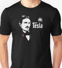 Nikola Tesla Godfather Theme T-Shirt