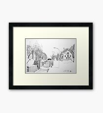 Winter Locks, Ottawa 1971 Framed Print