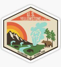 Pegatina Parque Nacional Yellowstone
