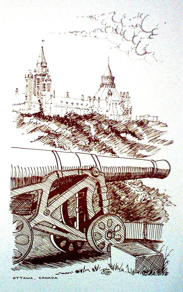 Noon Day Cannon, Ottawa, 1971 by John W. Cullen