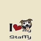 I love my staffy 2 by Diana-Lee Saville