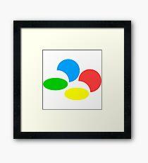 Super Nintendo, famicom logo Framed Print