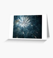 Fireworks on New Years Eve Greeting Card