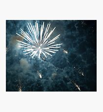 Fireworks on New Years Eve Photographic Print