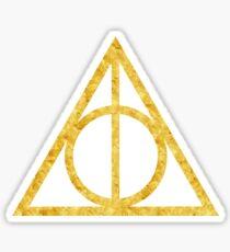 Gold Deathly Hallows Sticker