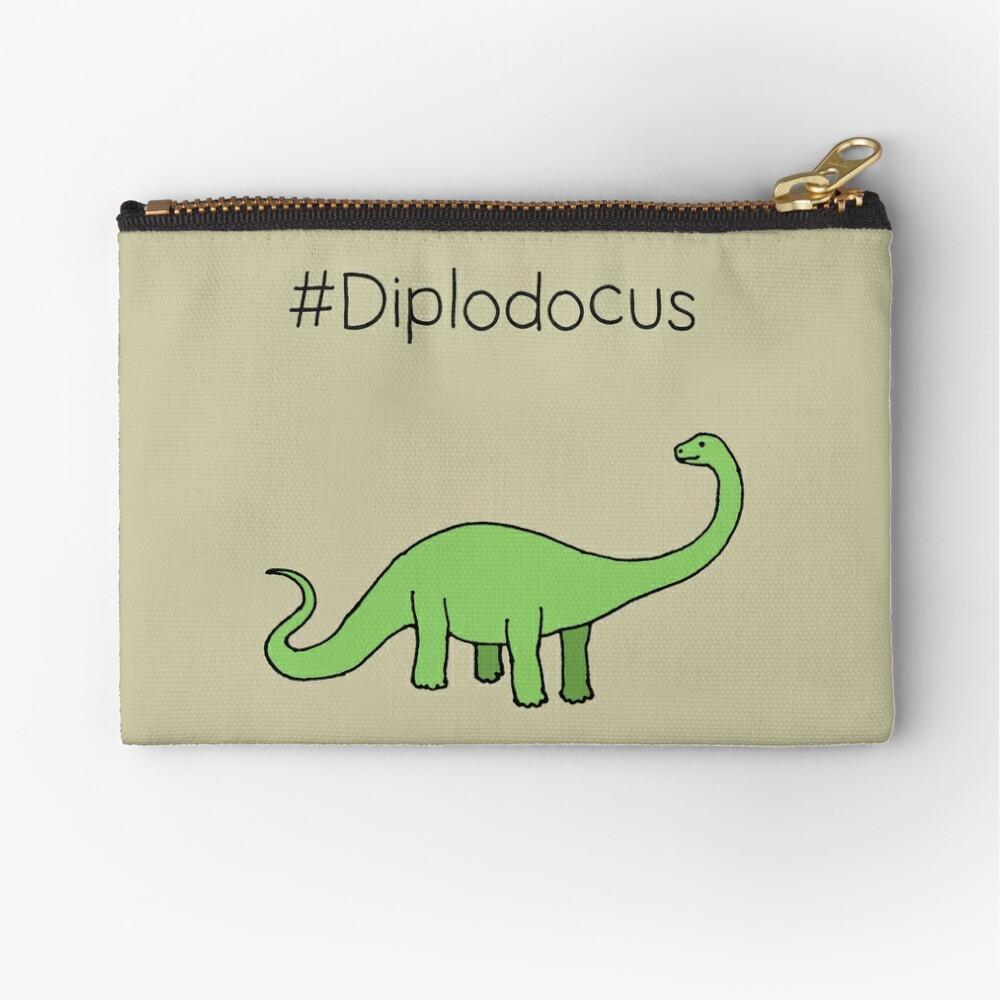 #Diplodocus - dinosaur design by Cecca Designs Zipper Pouch