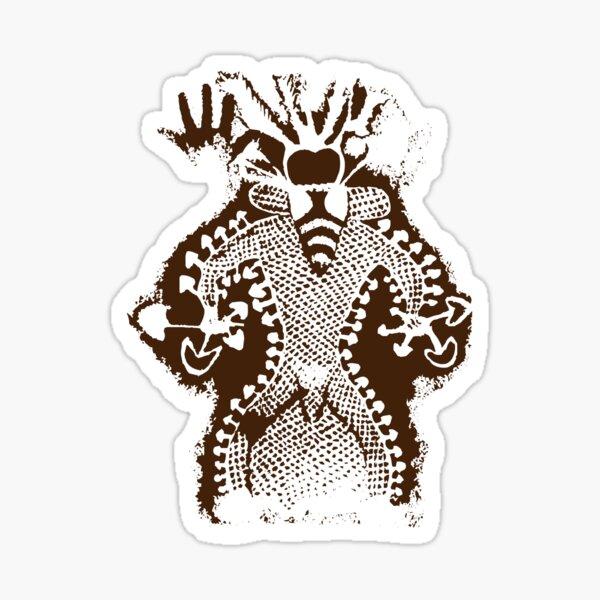 Prehistoric Bee Man Mushroom God Sticker