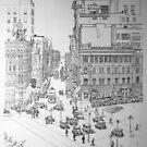 Sparks Street Ottawa 1928 by John W. Cullen