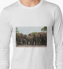 Elephants (Loxodonta africana) Long Sleeve T-Shirt