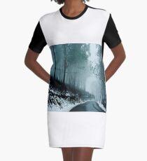 0233  Into a cold dark place   [e] Graphic T-Shirt Dress