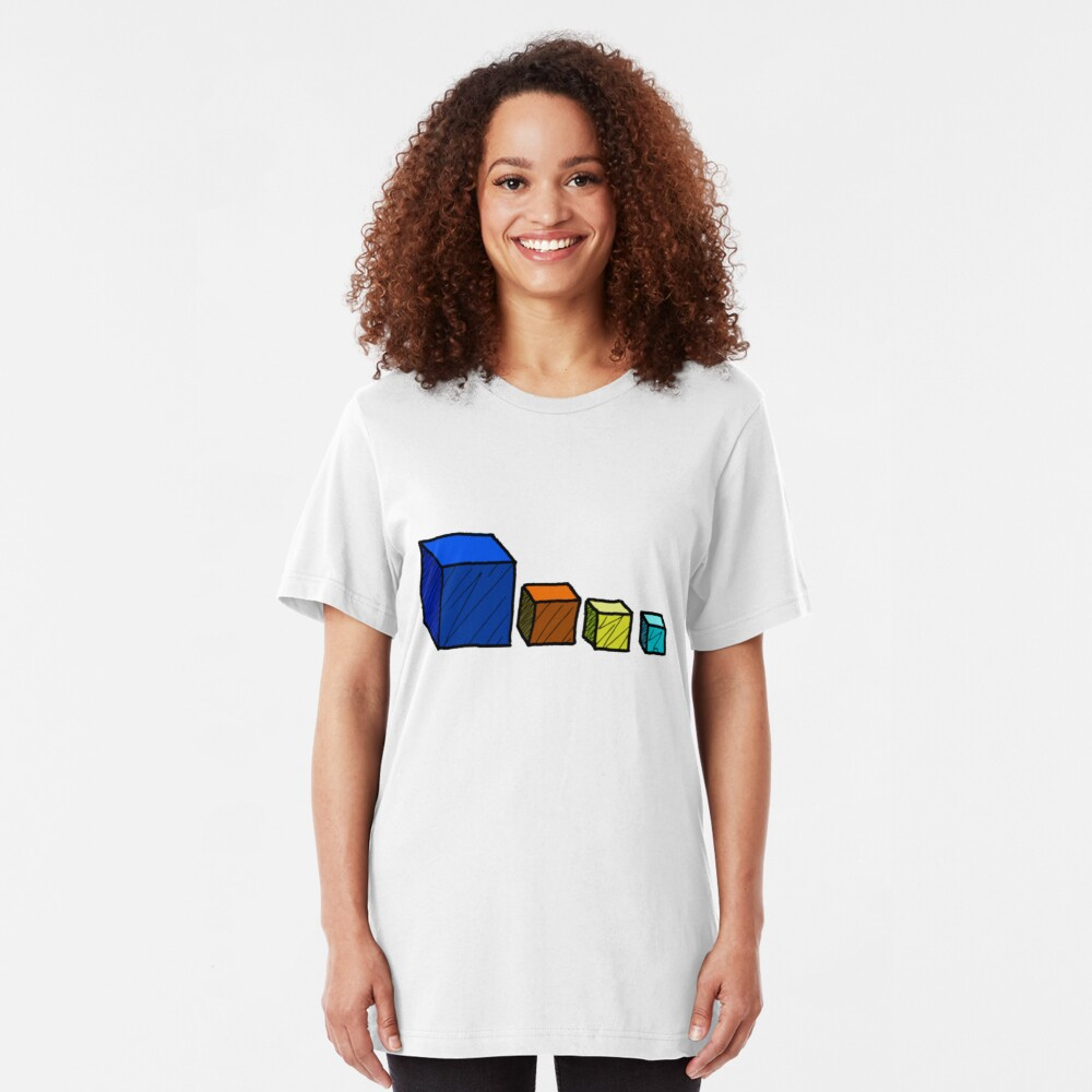 Reino del Dios Loco - Cubos de Dios Cubo Camiseta ajustada