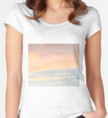 Gentle Sunset with Good Vibes Women's Fitted Scoop T-Shirt
