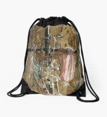 Draped Cross at Chimayo Drawstring Bag