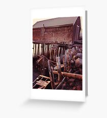 Abandoned Pier at Sunset  Gloucester MA Greeting Card