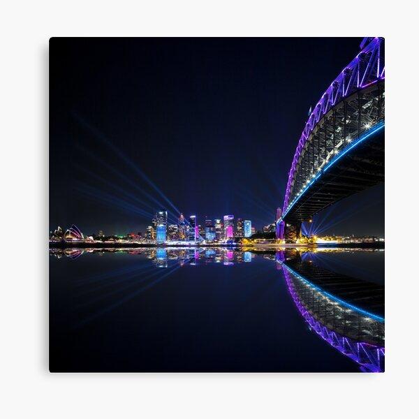 Vivid Sydney Harbour Reflections Canvas Print