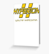 Hyperion. Greeting Card