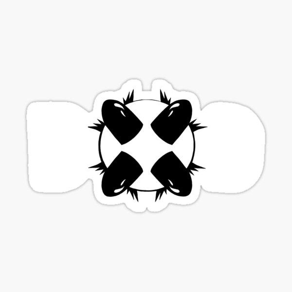 ReAct: Bullet Decision Small Logo (White) Sticker