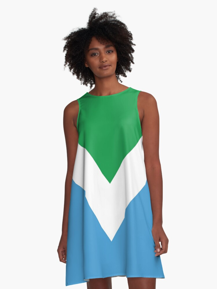 International Vegan Flag 2 A-Line Dress Front