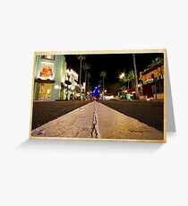 Road to Hollywood Greeting Card