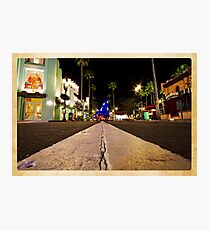 Road to Hollywood Photographic Print