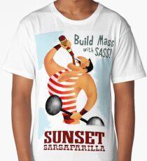 Build Mass With Sass! Sunset Sarsaparilla Poster Long T-Shirt