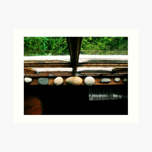 Stones In The Window Art Print