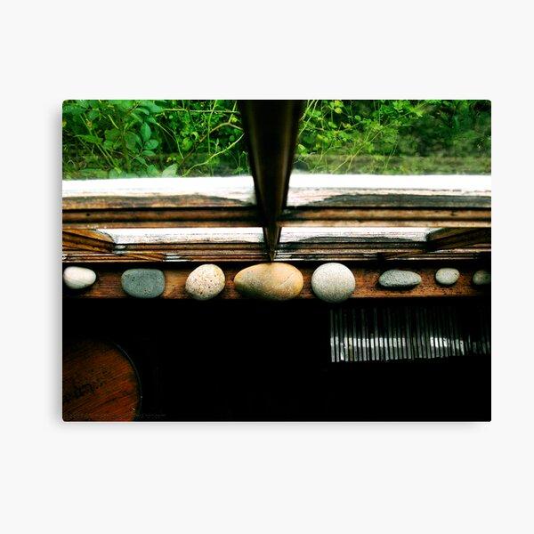 Stones In The Window Canvas Print