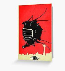 E-DE Fallout New Vegas Poster Greeting Card