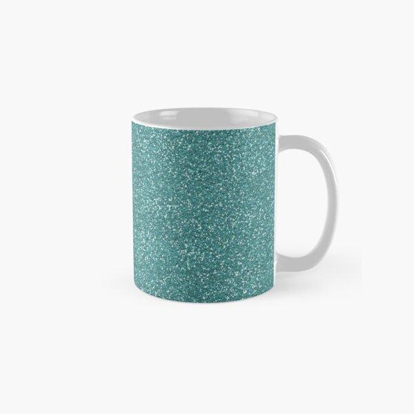 Teal Glitter Classic Mug