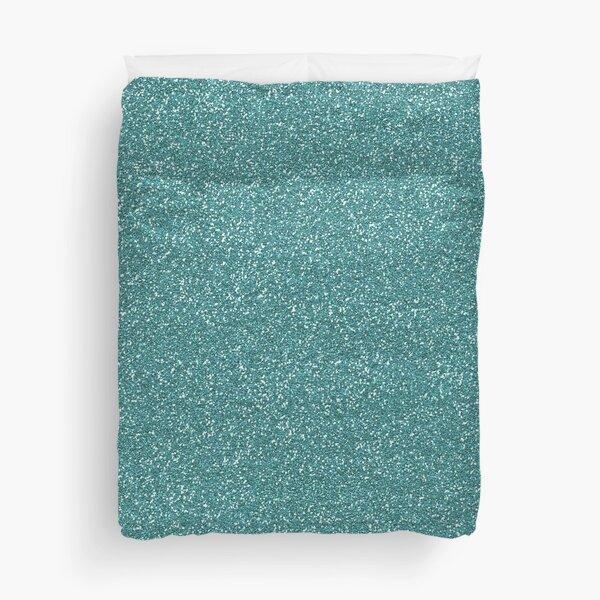 Teal Glitter Duvet Cover