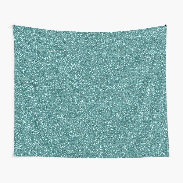 Teal Glitter Tapestry