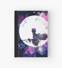 Little Witch Flying Over Moon Hardcover Journal