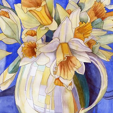 Daffodils in a Yellow Vase by esvb