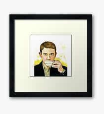 A cup of tea with John Watson Framed Print
