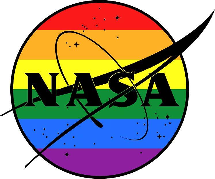 """Gay Pride Nasa Logo"" Stickers by gloomybabe Redbubble"