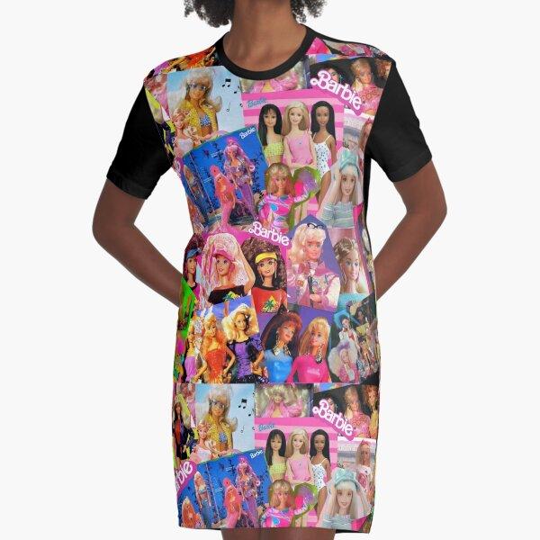 80's barbie Graphic T-Shirt Dress