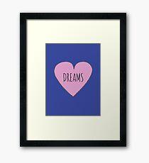 I LOVE DREAMS Framed Print