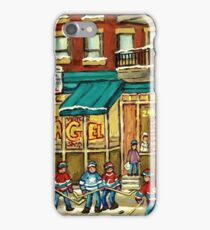 HOCKEY ART ST.VIATEUR BAGEL MONTREAL ORIGINAL PAINTINGS AND PRINTS iPhone Case/Skin